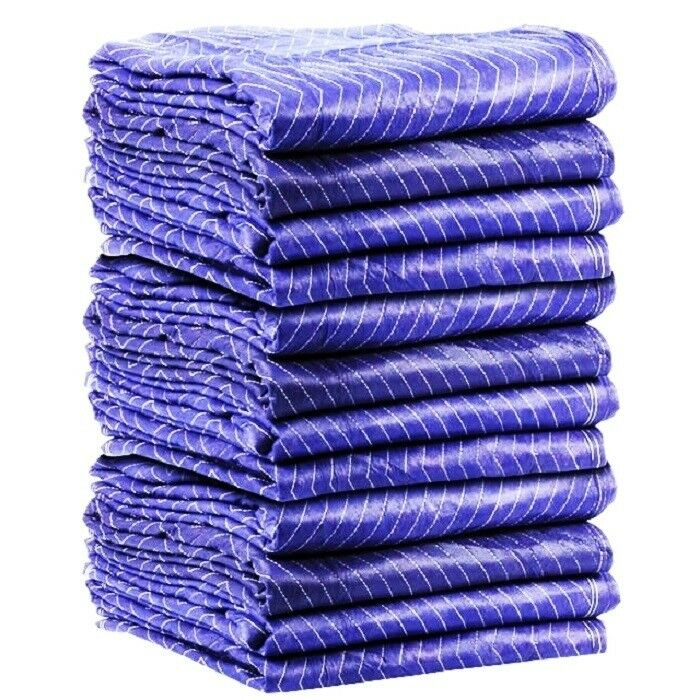 12pk Heavy Duty Moving Blanket Pro Quilted Pads 72 X 80 Furniture 69lbs Dz Ebay