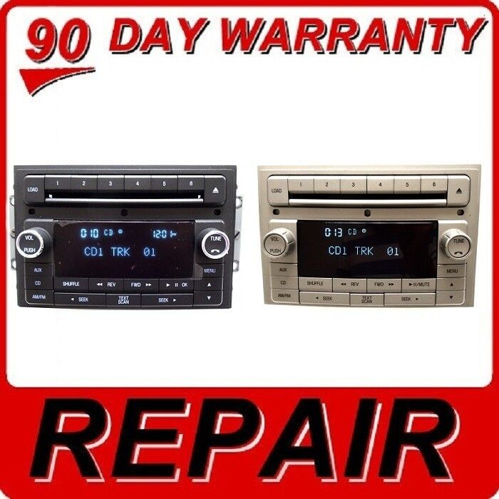 repair your 06 10 ford lincoln mkx oem radio stereo 6 disc changer cd player ebay. Black Bedroom Furniture Sets. Home Design Ideas