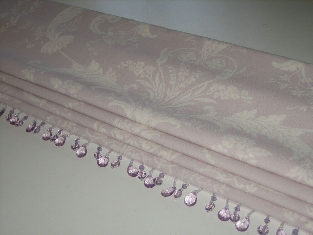 New Laura Ashley Josette Toile Amethyst Linen Fabric