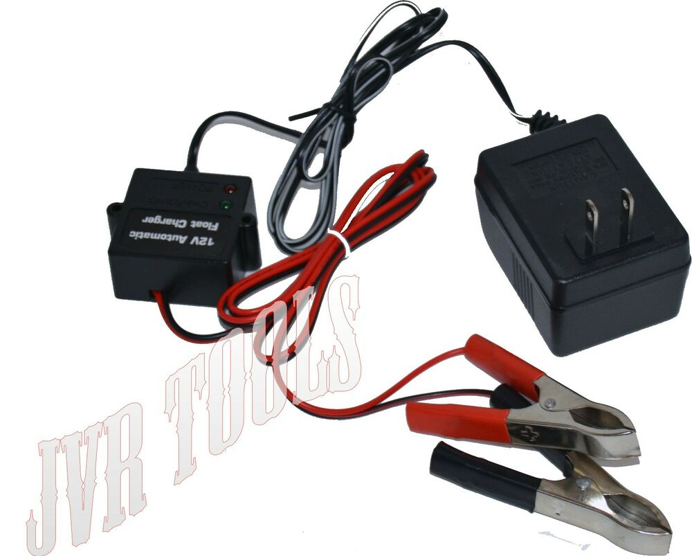 how to connect a trickle charger to a car battery