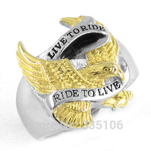 Jewelry motor cycles biker harley davidson mens rings ebay for Harley davidson jewelry ebay