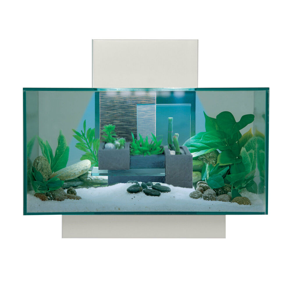 Fluval edge aquarium white 21 led 6 gallon ebay for Betta fish tanks petco