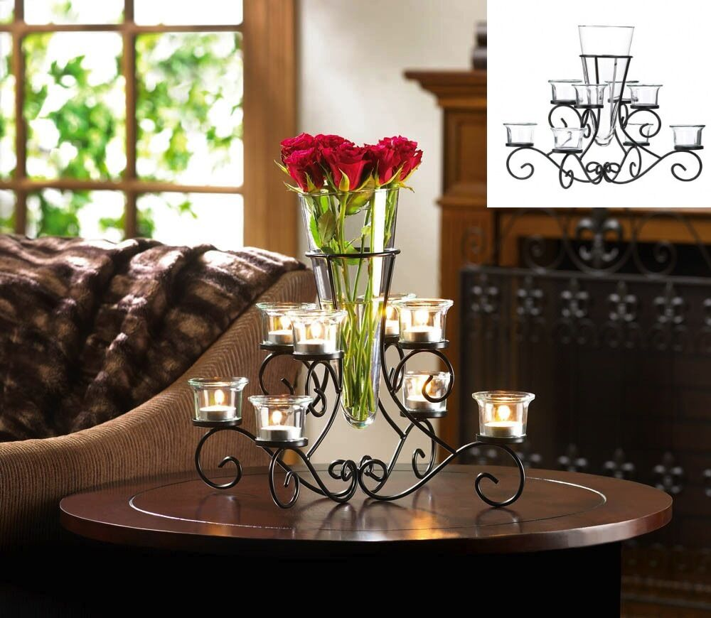 ebay wedding decor black candelabra large candleholder table decor wedding 3808