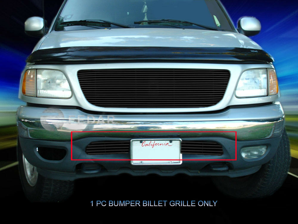 99 03 ford f150 f 150 2wd expedition black billet grille bumper insert fedar ebay. Black Bedroom Furniture Sets. Home Design Ideas