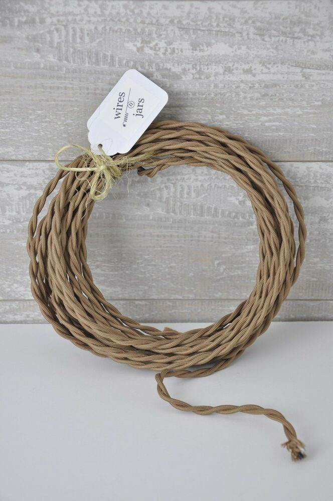 covered electrical cord wire length by foot bronze lamp cord ebay