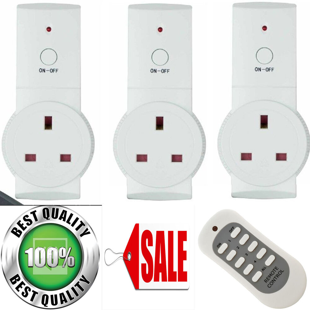 remote control socket 13amp mains sockets plug 13a 20m. Black Bedroom Furniture Sets. Home Design Ideas