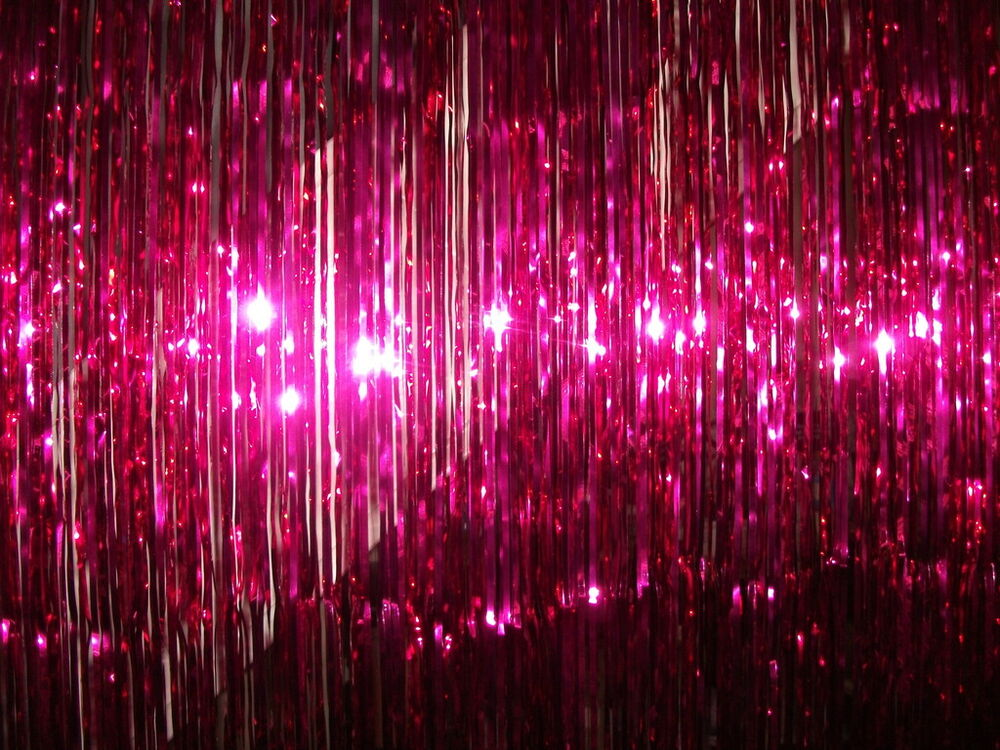 Bright Pink Foil Tinsel Door Curtain Great for Parties | eBay