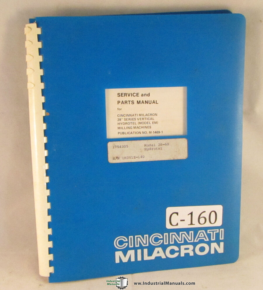 cincinnati milacron em 38 034 series milling machines service cincinnati milacron em 38 034 series milling machines service amp parts manual 1945