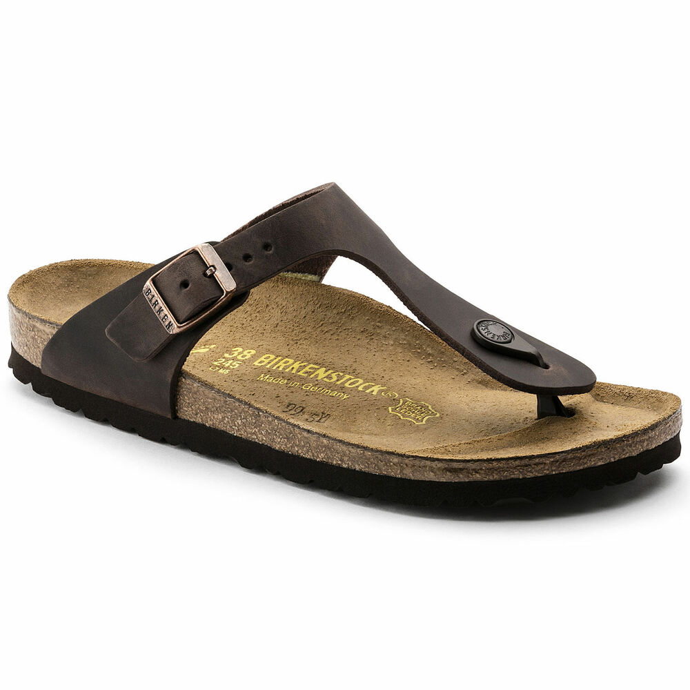 f21549ff39e Details about Birkenstock Oiled Leather GIZEH Habana Brown BNIB 743831