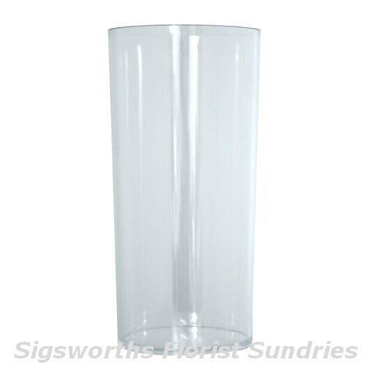 6 X 25cm Acrylic Cylinder Vase Clear Round Plastic Table Wedding Flower Gift 10 Quot Ebay