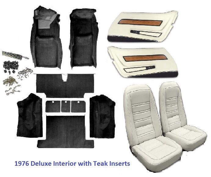 1976 corvette interior package seat covers and kit door panels carpet ebay