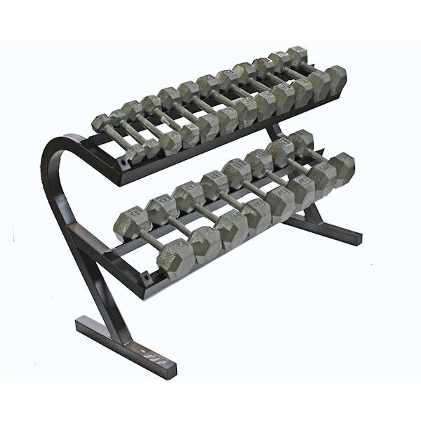 Dumbbell Set Up To 50: IRON HEX DUMBBELL SET WITH RACK 5-50LB TROY BARBELL SET