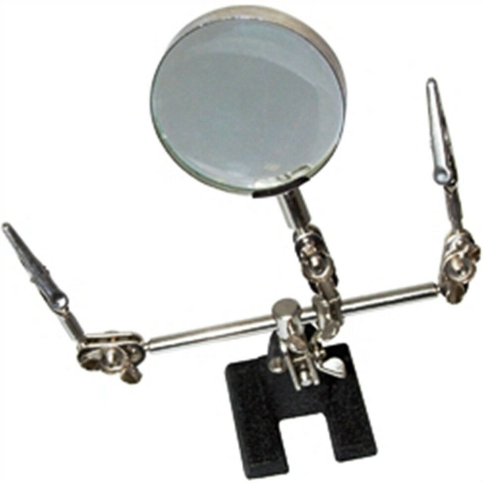 soldering iron stand helping hand magnifying glass crocodile clips ebay. Black Bedroom Furniture Sets. Home Design Ideas