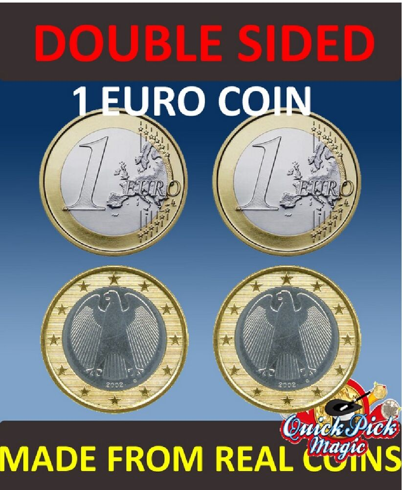double sided 1 euro coin 1 euro same side euro coin euro coin magic ebay. Black Bedroom Furniture Sets. Home Design Ideas
