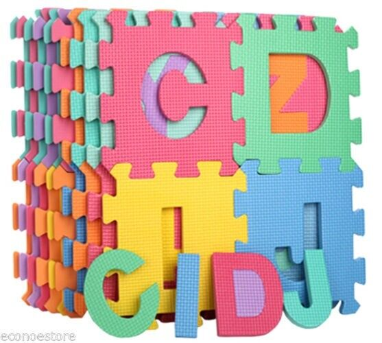 26 Sq Ft Learning Alphabet Letter Puzzle Foam Safety Play
