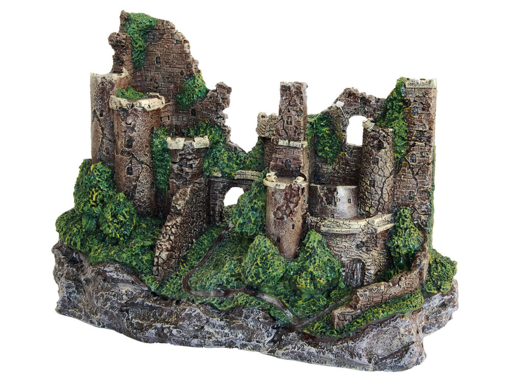 large rustic castle ruins aquarium decoration fish tank