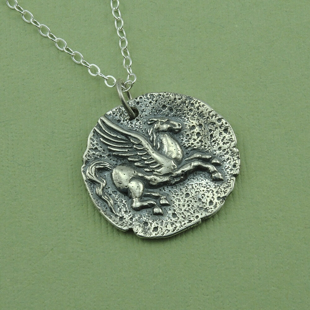 pegasus necklace sterling silver mystical jewelry