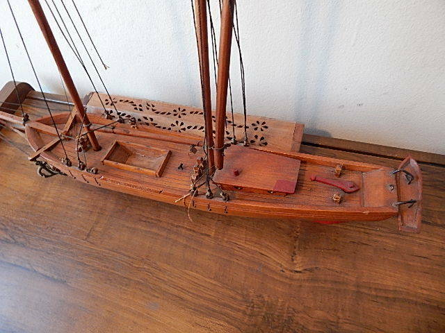 hand crafted vintage e leclerc canadienne schooner model ship nice usa sale ebay. Black Bedroom Furniture Sets. Home Design Ideas
