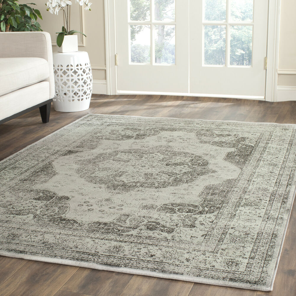 Grey safavieh power loomed vintage area rugs vtg158 770 - Carpets for living room online india ...