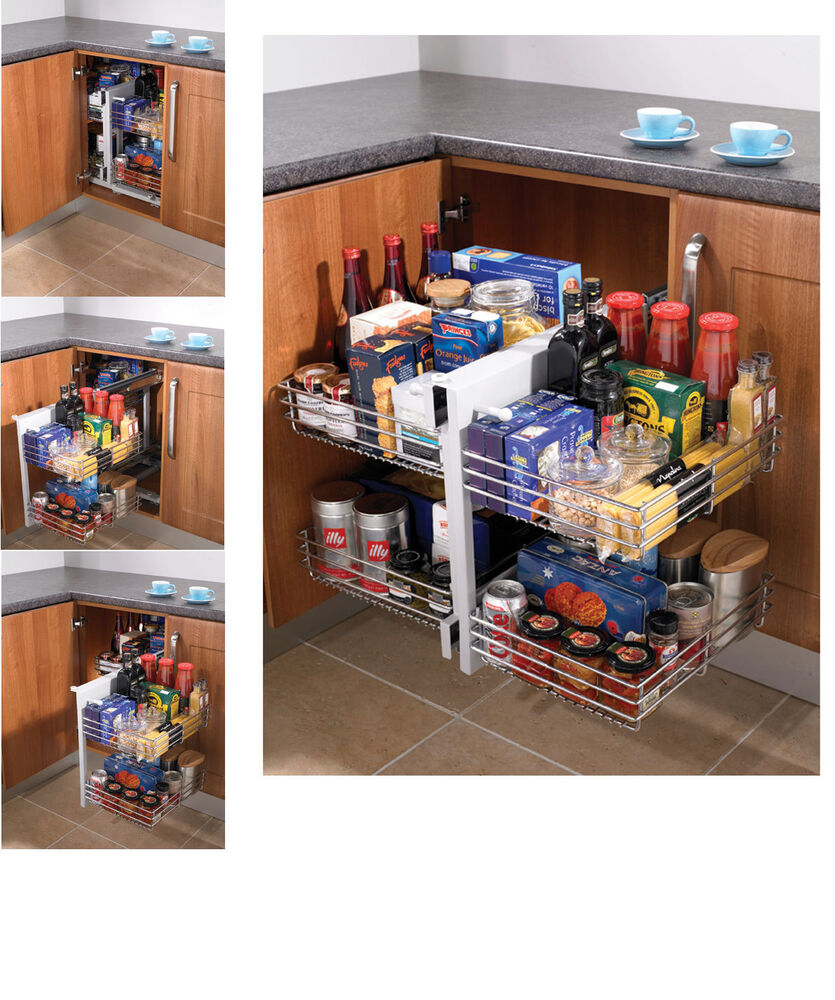 Kitchen Cabinet Carousel Corner Magic Corner Kitchen Units Sets Ebay