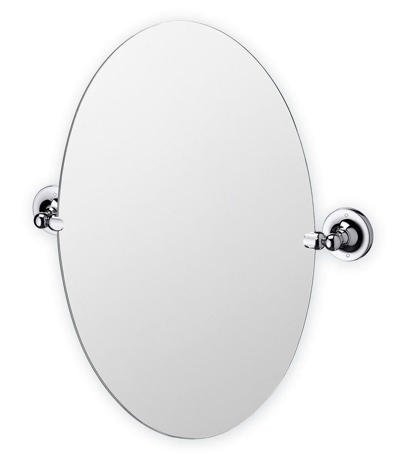 Oval round swivel pivot bathroom chrome silver finish wall ...