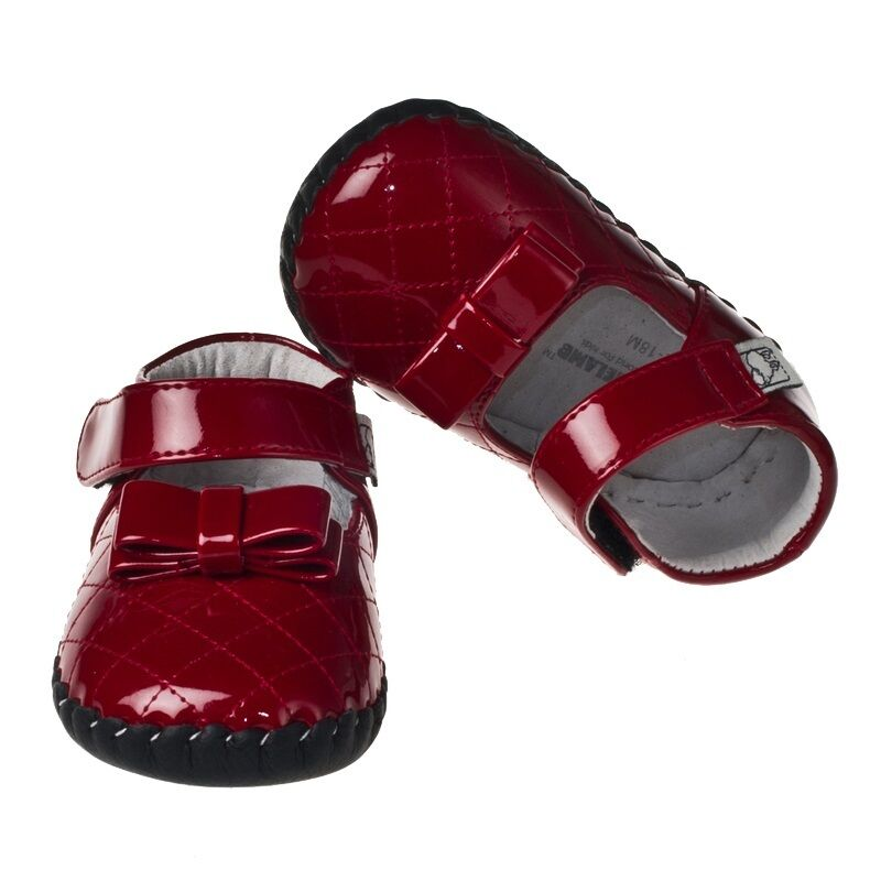 LITTLE BLUE LAMB BB A Red Patent Leather Mary Jane