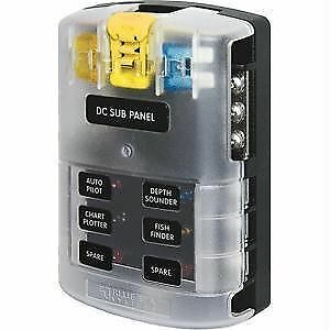 s l1000 blue sea fuse block 5025 6 circuits, cover, ground bar ebay blue sea fuse box at gsmportal.co