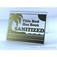 Tanning Bed Sign Sanitized Bed Acrylic Tent  Sign 3