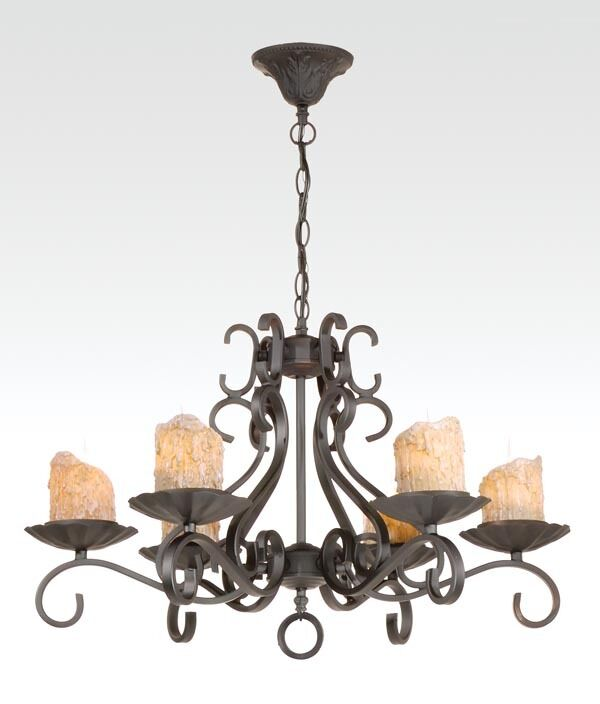 Candle Light Fixture: New Wrought Iron 6-Light Ceiling Fixture Chandelier