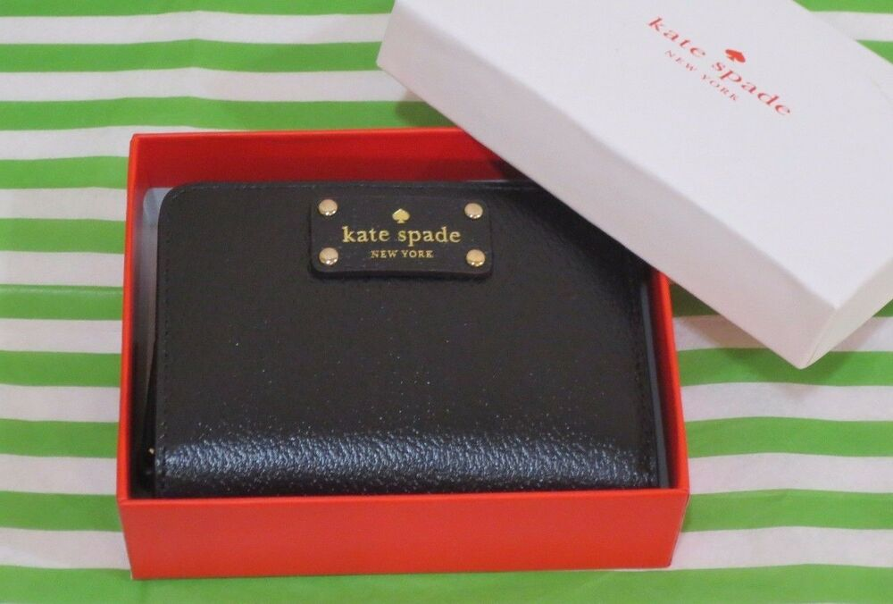 Kate Spade Wellesley Cara Leather Zip Around Wallet Givernyblu Black New Box Ebay