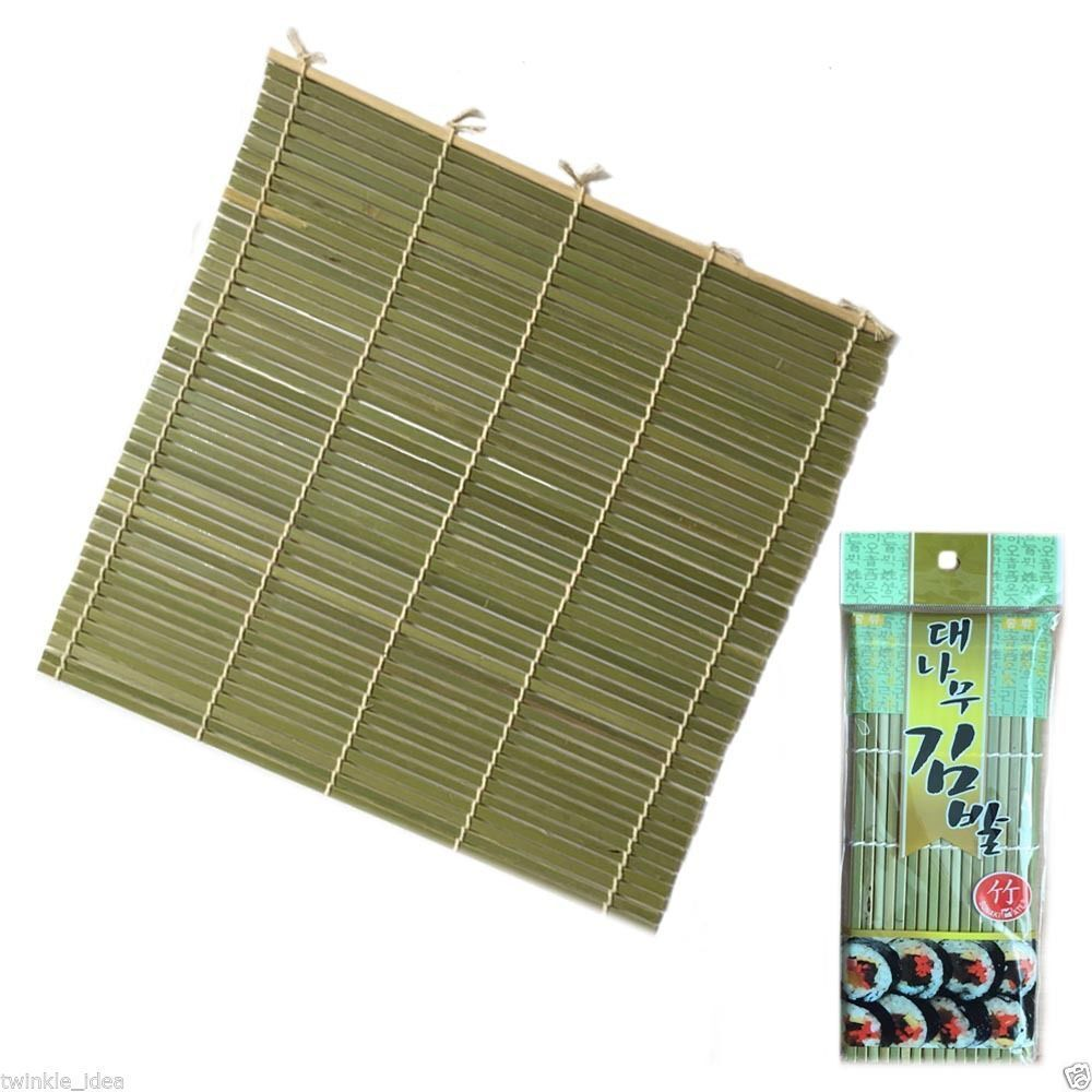 Roll Up Bamboo Wood Placemats Dinner Table Setting Sushi