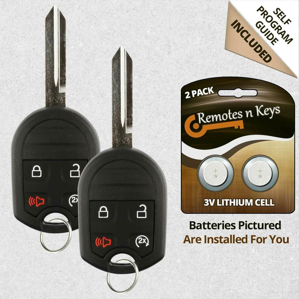 2 new uncut replacement keyless entry remote head key fob. Black Bedroom Furniture Sets. Home Design Ideas