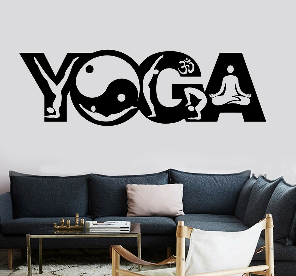 Wall Sticker Buddha Yoga Pose Positions Zen Meditation Om