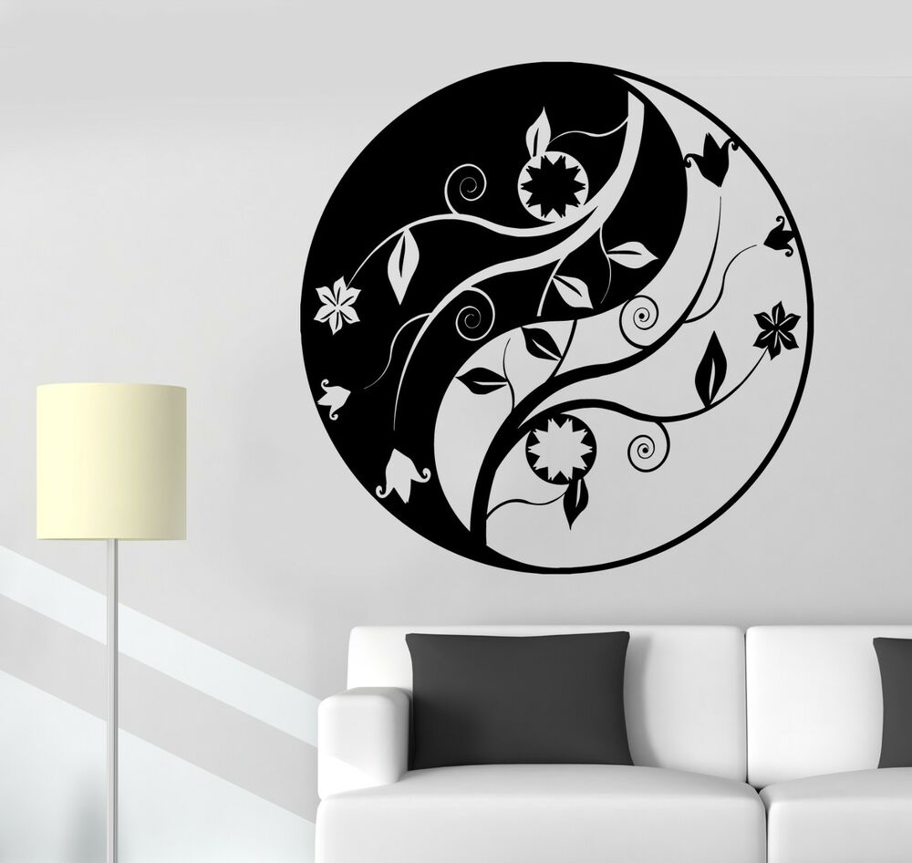 wall sticker buddha yin yang mandala om chakra zen lotus. Black Bedroom Furniture Sets. Home Design Ideas