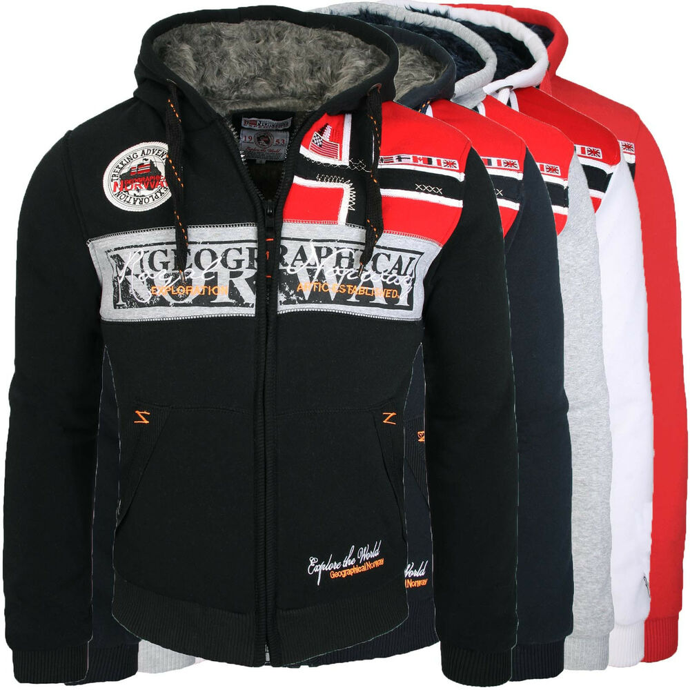 geographical norway frivolle warme herren sweat shirt jacke pullover hoodie neu ebay. Black Bedroom Furniture Sets. Home Design Ideas