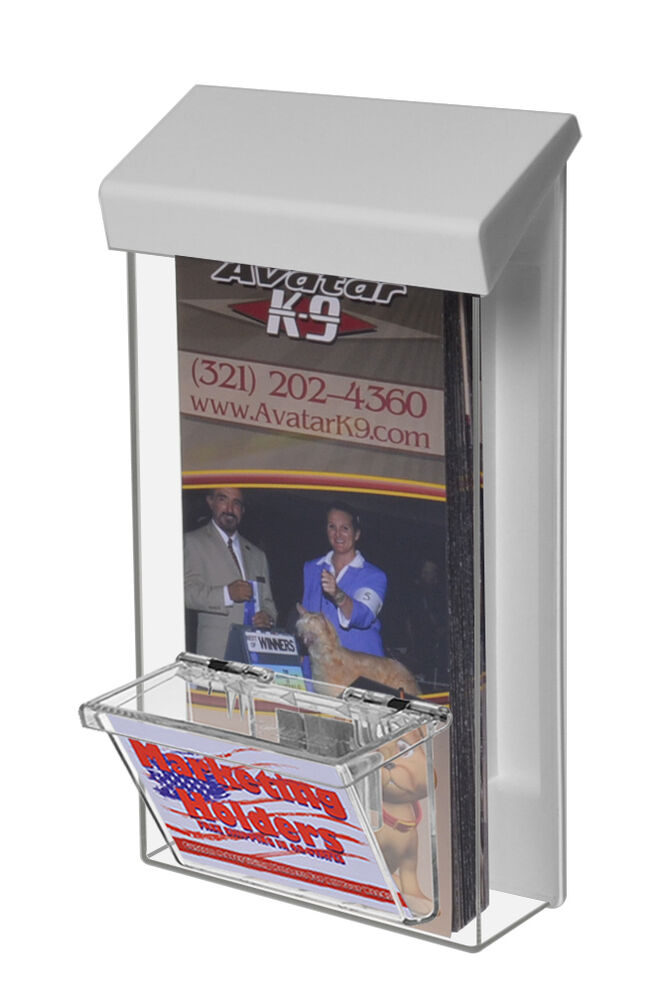 Outdoor Brochure Flyer Holder Box Tri Fold 4 X 9 With