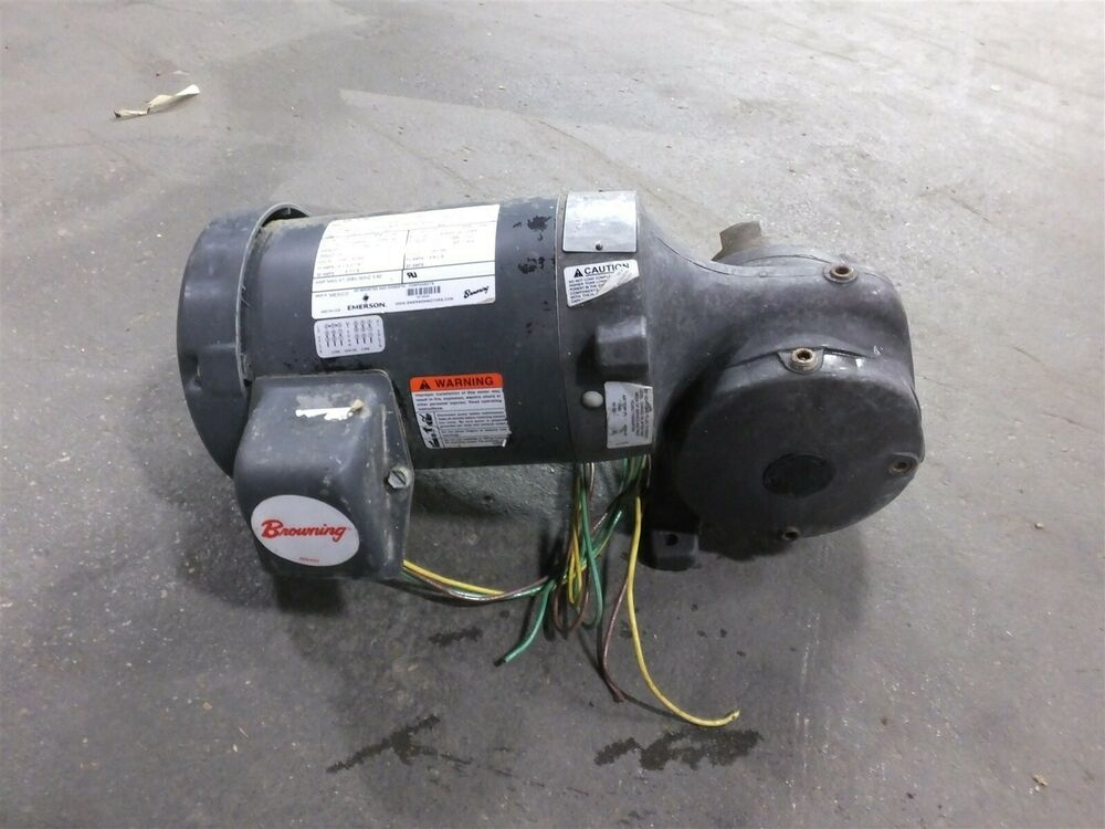 Browning e186a motor 1hp 1755 1440rpm 3 phase frame for 1hp 3 phase motor