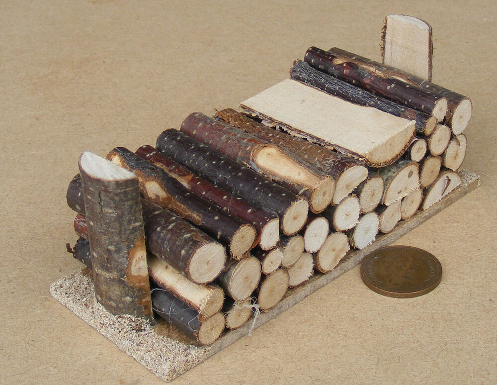 1:12 Scale Large Log Pile For Fire Wood Tumdee Dolls House Garden Timber 318