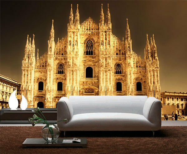 Milan cathedral church italy 3d full wall mural photo for Church wall mural