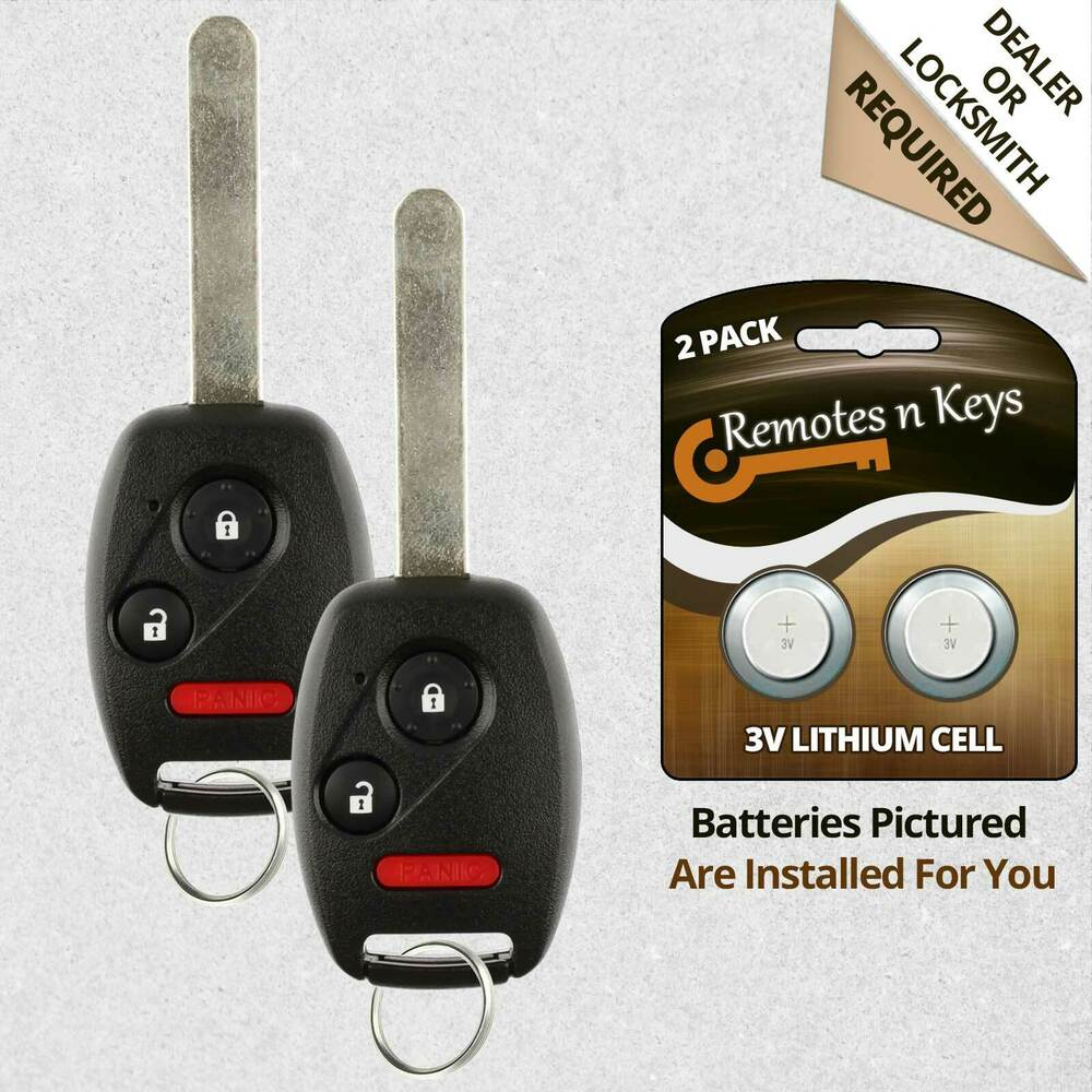 Honda Keyless Remote Battery Replacement 2017 2018 2019