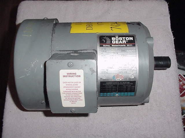 New boston gear hutf 1 hp 3 phase electric motor for 3 hp single phase electric motor