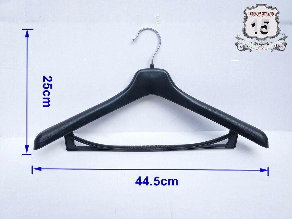 3 x 17 extra wide strong black suit coat plastic hangers for What to do with extra clothes hangers