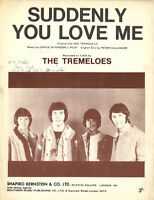 THE TREMELOES - 60's Sheet music - SUDDENLY YOU LOVE ME