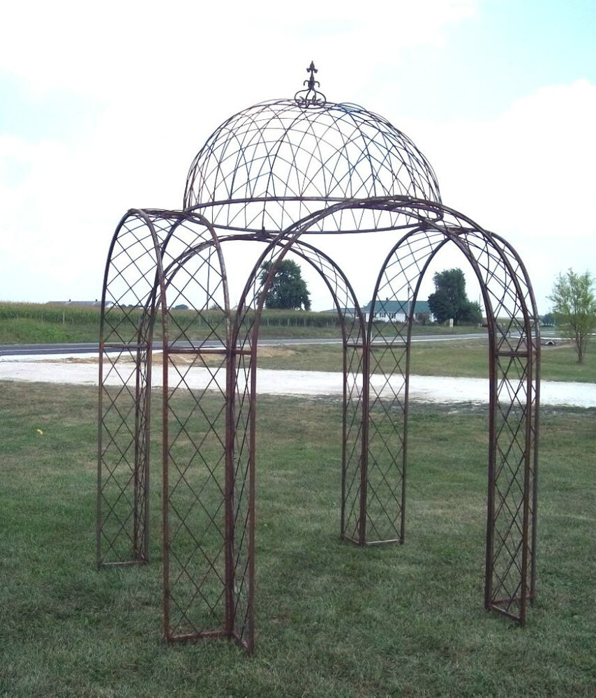 Metal Outdoor Kitchen Cabinets: Wrought Iron Gazebo With 4 Arches