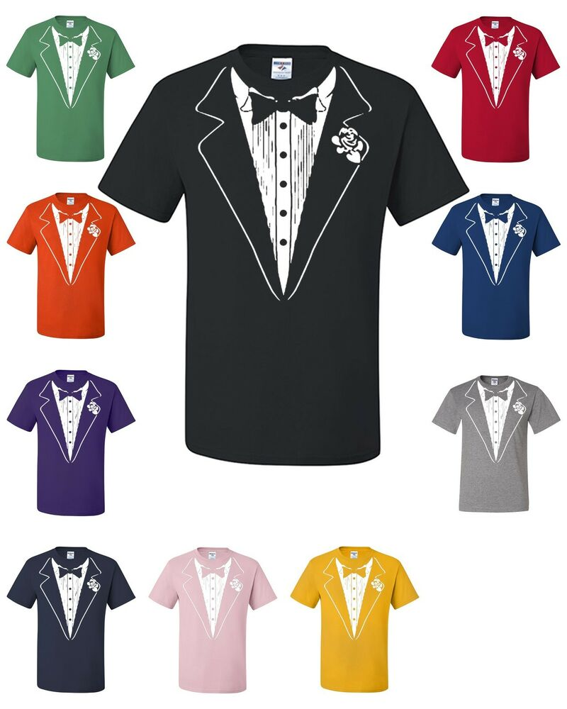 Tuxedo T Shirt Funny Wedding Prom Bachelor Party Tee Shirt