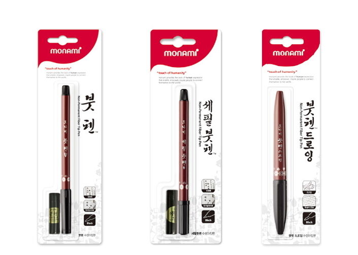 Monami Calligraphy Water Brush Fine Drawing Pen Refill Ink