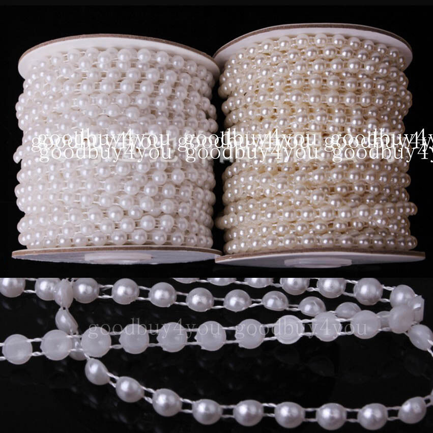 5 meters pure ivory white pearl garland wedding for Decoration 4