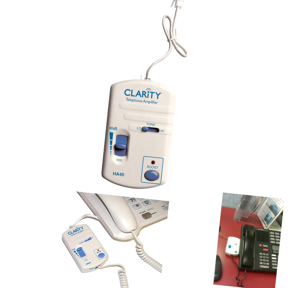 clarity clarha40 portable telephone handset amplifier ebay. Black Bedroom Furniture Sets. Home Design Ideas