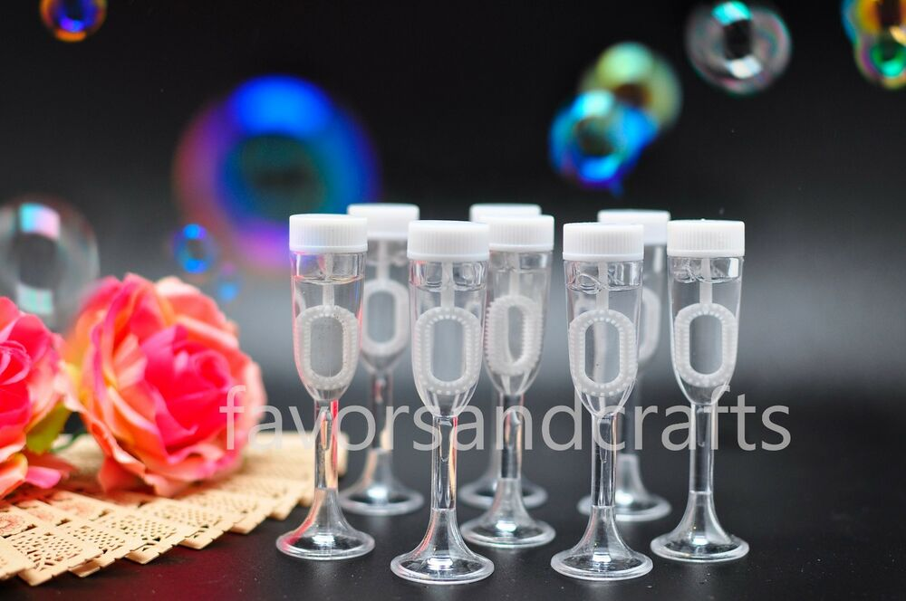 96 Wedding Bubbles Champagne Glass Bottles Wand Favors Decorations Favour Heart : eBay