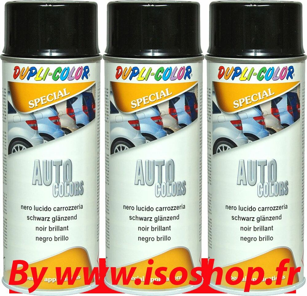 automobile voiture tolerie carrosserie peinture noir brillant laque 3x400ml ebay. Black Bedroom Furniture Sets. Home Design Ideas